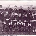 Newnham Football Team - 23rd March 1905 (Nick Marshall, back row, right)